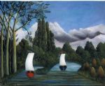 banks of the oise by henri rousseau painting