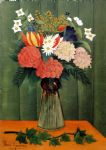 henri rousseau bouquet of flowers with an ivy branch painting 77736