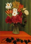 henri rousseau bouquet of flowers with an ivy branch painting 32043