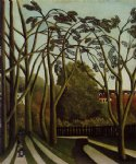 henri rousseau landscape on the banks of the bievre at becetre spring painting 32058