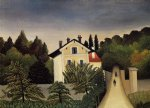henri rousseau landscape on the banks of the oise area of chaponval painting 32059