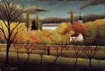 henri rousseau landscape with farmer painting 32062