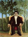portrait paintings - portrait of joseph brummer by henri rousseau
