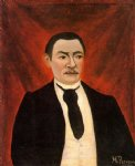 portrait paintings - portrait of monsieur s by henri rousseau
