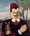 portrait paintings - portrait of monsieur x. pierre loti by henri rousseau