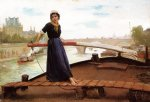 along the seine by henry bacon paintings