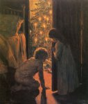henry mosler christmas morning painting-31997