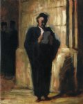 attorney reading by honore daumier painting