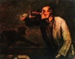 billiard players by honore daumier painting