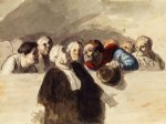 the defense attorney by honore daumier painting