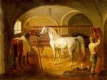 stallinneres by jacques laurent agasse painting