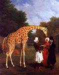the nubian giraffe by jacques laurent agasse painting
