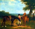 two hunters with a groom by jacques laurent agasse painting