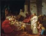 antiochus and stratonice by jacques louis david painting