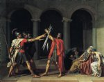oath of the horatii 1784 by jacques louis david painting