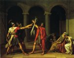 oath of the horatii by jacques louis david painting