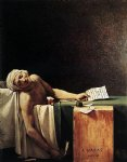 the death of marat by jacques louis david painting