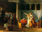 the lictors bring to brutus the bodies of his sons by jacques louis david painting