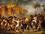 the sabine women by jacques louis david painting