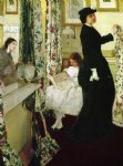 james abbott mcneill whistler harmony in green and rose the music room painting 31835
