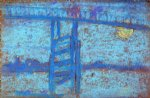 nocturne battersea bridge by james abbott mcneill whistler painting