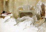 resting in bed by james abbott mcneill whistler painting