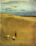 james abbott mcneill whistler the beach at selsey bill painting 31909