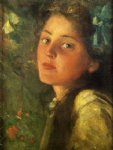 a wistful look by james carroll beckwith painting