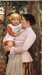 mother and child by james carroll beckwith painting