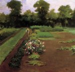 new hamburg garden by james carroll beckwith painting