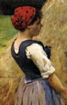 normandy girl by james carroll beckwith painting