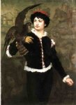 the falconer by james carroll beckwith painting