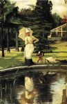 james jacques joseph tissot in an english garden painting-79715