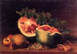still life with broken watermelon by james peale painting