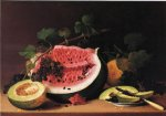 still life with watermelon ii by james peale painting
