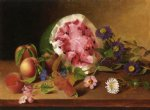 still life with watermelon by james peale painting