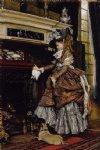 the fireplace by james tissot painting