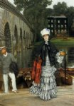 james tissot the return from the boating trip painting