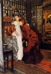 james tissot young women looking at japanese objects ii painting
