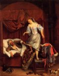 jan steen couple in a bedroom art