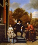 the burgher of delft and his daughter by jan steen painting