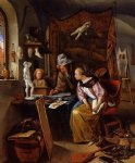 the drawing lesson by jan steen painting