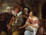 the merry threesom by jan steen painting