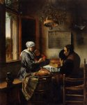 the prayer before the meal by jan steen painting