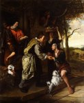 the return of the prodigal son by jan steen painting