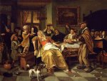 twelfth night by jan steen painting