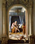 woman at her toilet by jan steen painting
