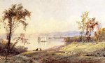 jasper francis cropsey along the hudson painting
