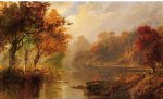 autumn landscape ii by jasper francis cropsey painting