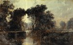 jasper francis cropsey bridge on the wawayanda river painting